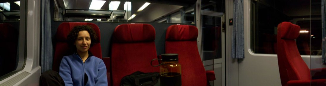 A panoramic view of the 1st class InterCity compartment