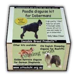 The Poodle Disguise Kit for Dobermans