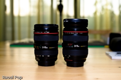 24-105mm and 24-70mm, side by side