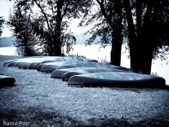 Canoes for rent at White's Ferry
