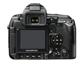 Olympus E-3 DSLR (back view)