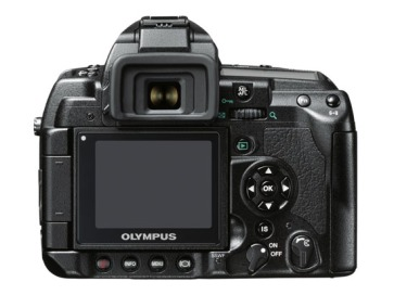 Olympus E-3 DSLR (back view)