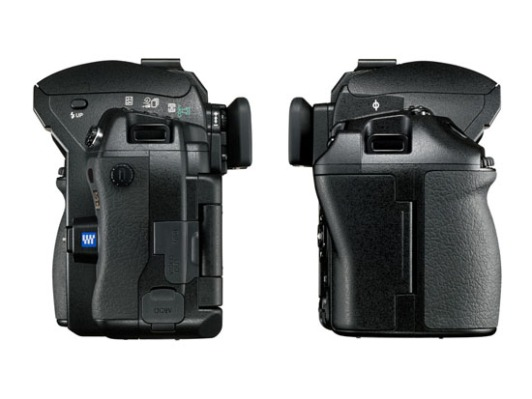 Olympus E-3 DSLR (side view)