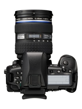 Olympus E-3 DSLR (top view)