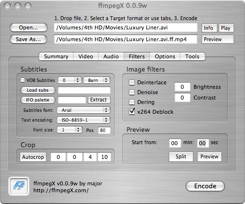 ffmpegx filters screen