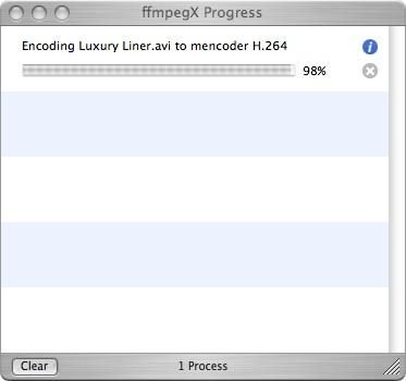 ffmpegx progress screen