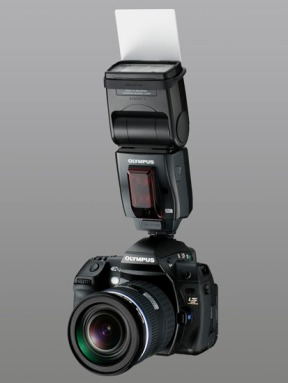 Olympus E-3 DSLR (with new FL-50 speelite)