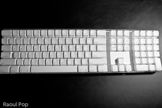 Apple keyboard after thorough cleaning