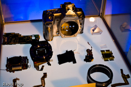 The components of the E-3 DSLR