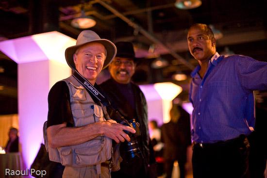 Gary Kralle, John Isaac and friend
