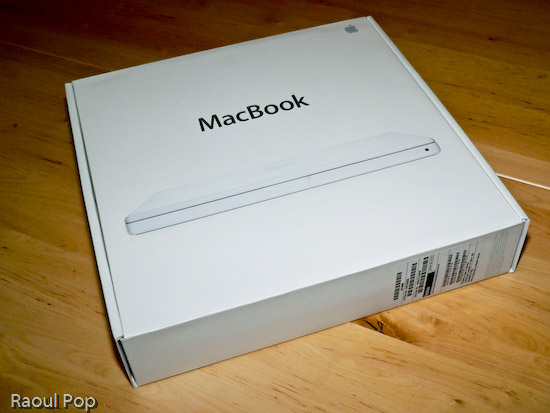 MacBook in its box