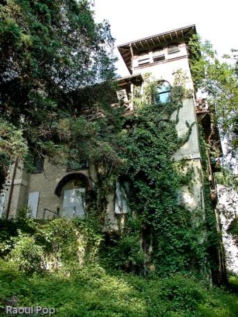 Behind the Villa dormitory