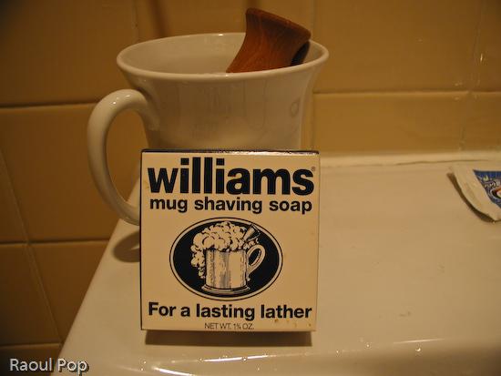 Shaving soap and mug
