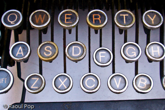 It spells QWERTY