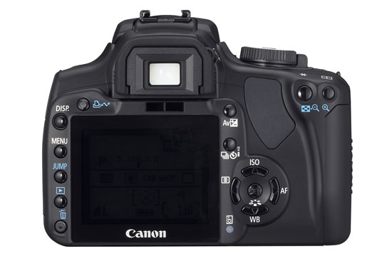 Canon Rebel XTi (back)