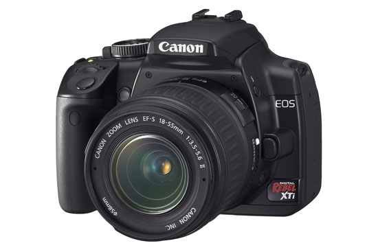 Canon Rebel XTi (front)