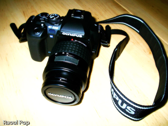 EVOLT E-500 DSLR (top view)