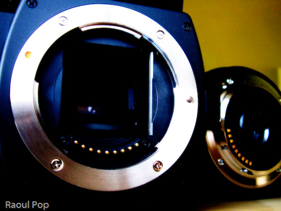 Camera and lens mount