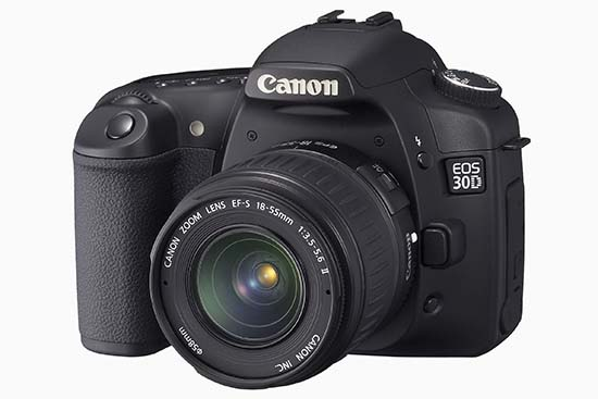 Canon EOS 30D (three quarters)