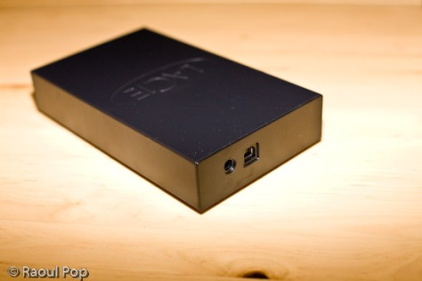 500 GB LaCie USB hard drive (back view)