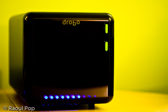 Drobo (front view with cover on)