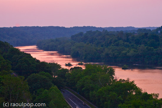 Night falls gently on the old river