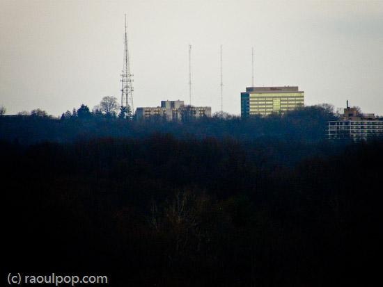 Looking toward Montgomery Mall