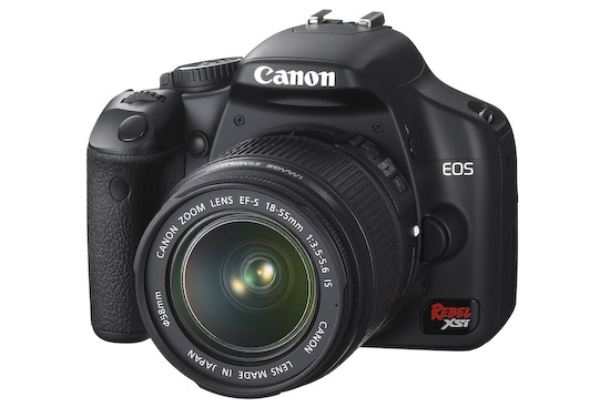 Canon EOS Rebel XSi (front 3q)