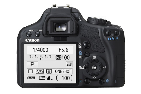 Canon EOS Rebel XSi (back)