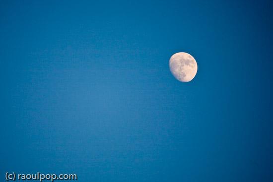 Moon rises over Grosvenor