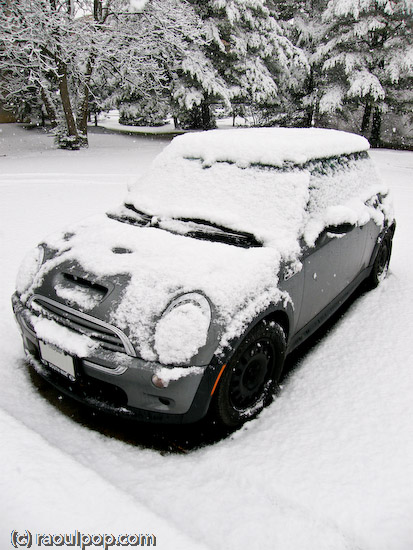 MINI covered in snow