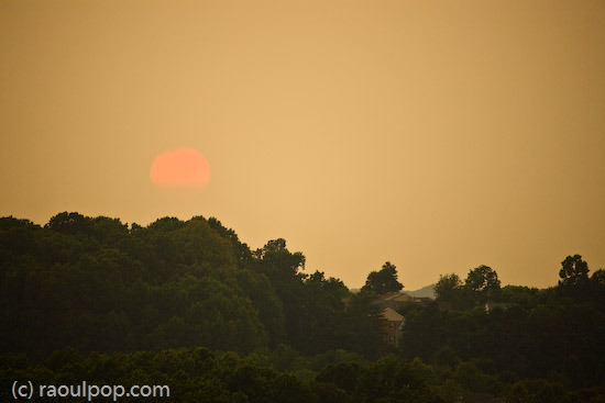 Sun sets over Grosvenor