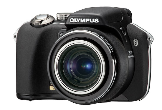 Olympus SP-560 UZ (left)