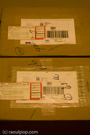 The re-returned FedEx packages