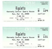 Tickets to Rigoletto