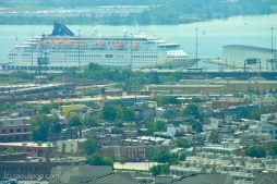 Cruise ship moored