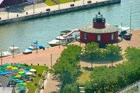 Aerial View of Seven Foot Knoll Lighthouse