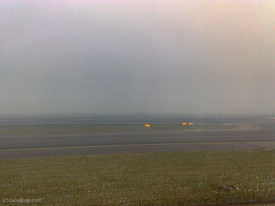 Foggy day at Amsterdam Airport
