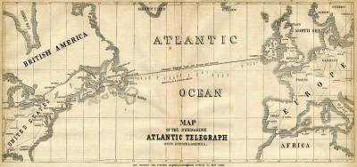 1858 Telegraph Cable Map