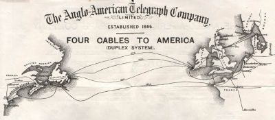 1880 Telegraph Cable Map