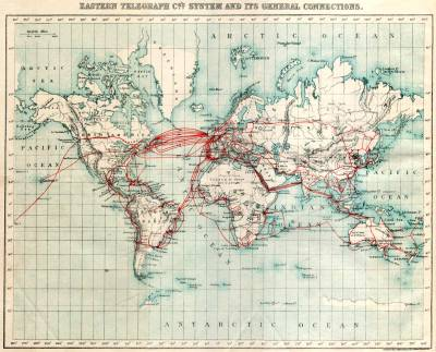 1901 Telegraph Cable Map