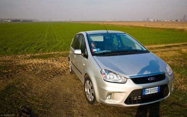 Our rental car, a Ford C-Max 1.6L Diesel