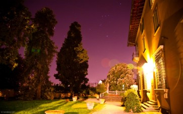 Tuscan courtyard, night