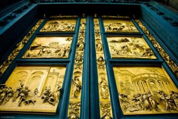 Bronze doorway detail