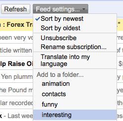 Google Reader automatic post translation