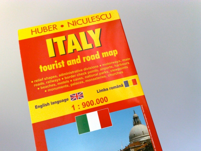 Italy - Tourist and Road Map