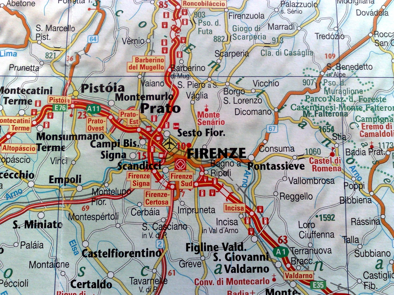 Map Of Italy Florence And Surrounding Area  Deboomfotografie