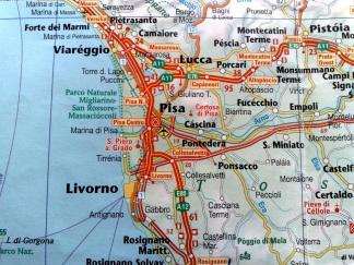 Map of Pisa