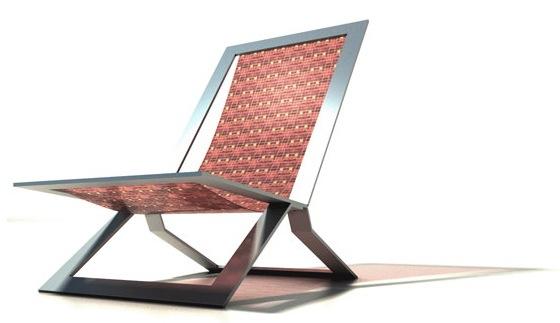 Mosaic Folding Chair - 1