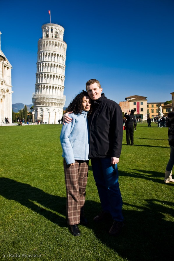 Us, at the Leaning Tower of Pisa